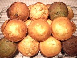 画像1: 18個MIX(プレーン8個、紅茶2個、シナモンレーズン1個、バナナクルミ1個、レモン2個、Wショコラ2個、抹茶小豆2個)