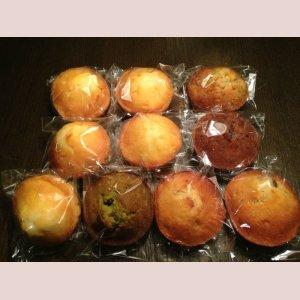 画像: 10個MIX>>プレーン5個、紅茶1個、バナナクルミ1個、Wショコラ1個、レモン1個、京抹茶あずき1個